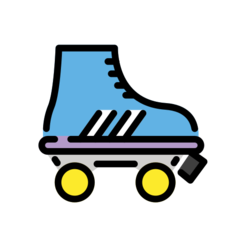 How Roller Skate emoji looks on Openmoji.