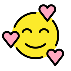How Smiling Face with Hearts emoji looks on Openmoji.