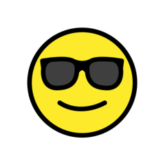 How Smiling Face with Sunglasses emoji looks on Openmoji.