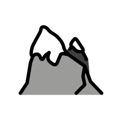 How Snow-Capped Mountain emoji looks on Openmoji.