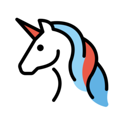 How Unicorn emoji looks on Openmoji.