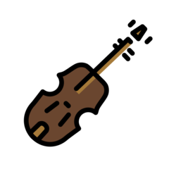 How Violin emoji looks on Openmoji.