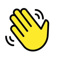 How Waving Hand emoji looks on Openmoji.