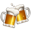 How Clinking Beer Mugs emoji looks on Samsung.