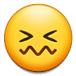 How Confounded Face emoji looks on Samsung.