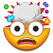 How Exploding Head emoji looks on Samsung.