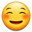 How Smiling Face emoji looks on Samsung.