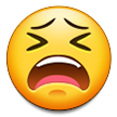 How Tired Face emoji looks on Samsung.