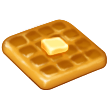 How Waffle emoji looks on Samsung.