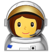 How Woman Astronaut emoji looks on Samsung.