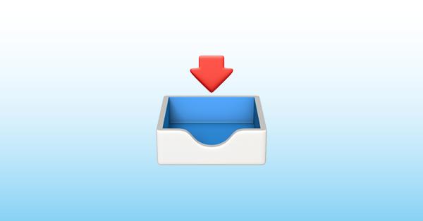 gelen kutusu emoji 📥
