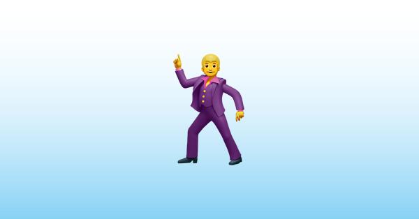 dansende mand emoji 🕺