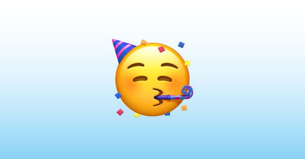 feestend gezicht emoji 🥳