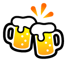 How Clinking Beer Mugs emoji looks on Softbank.