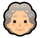 How Old Woman emoji looks on Softbank.