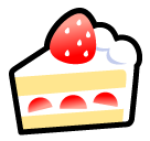 How Shortcake emoji looks on Softbank.