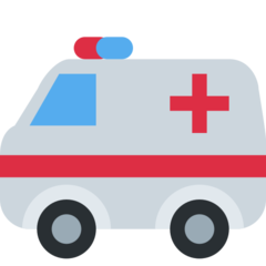 How Ambulance emoji looks on Twitter.