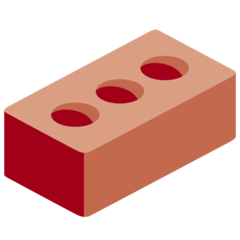 How Brick emoji looks on Twitter.