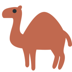 How Camel emoji looks on Twitter.