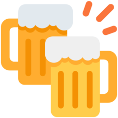 How Clinking Beer Mugs emoji looks on Twitter.