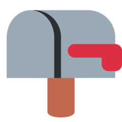 How Closed Mailbox with Lowered Flag emoji looks on Twitter.