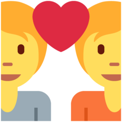 How Couple with Heart emoji looks on Twitter.