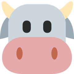 How Cow Face emoji looks on Twitter.