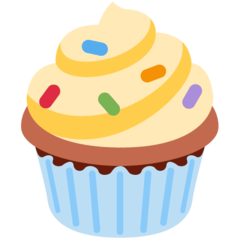 How Cupcake emoji looks on Twitter.