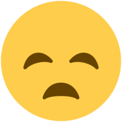How Disappointed Face emoji looks on Twitter.