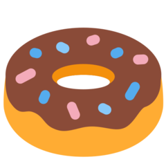 How Doughnut emoji looks on Twitter.