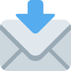 How Envelope with Arrow emoji looks on Twitter.