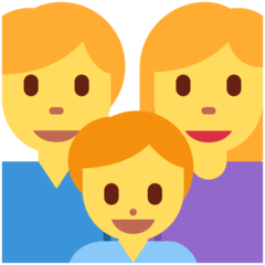 How Family: Man, Woman, Boy emoji looks on Twitter.