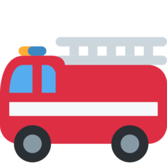 How Fire Engine emoji looks on Twitter.