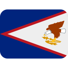 How Flag: American Samoa emoji looks on Twitter.
