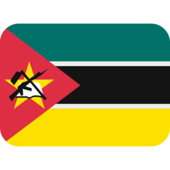 How Flag: Mozambique emoji looks on Twitter.