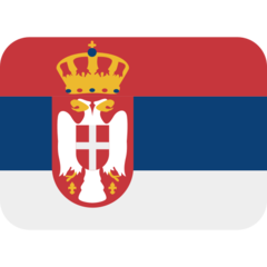 How Flag: Serbia emoji looks on Twitter.