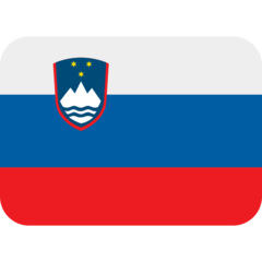 How Flag: Slovenia emoji looks on Twitter.