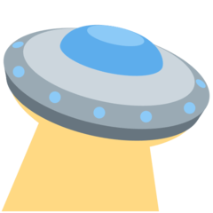 How Flying Saucer emoji looks on Twitter.