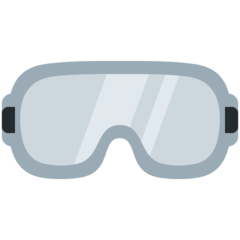 How Goggles emoji looks on Twitter.