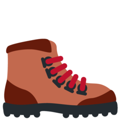 How Hiking Boot emoji looks on Twitter.