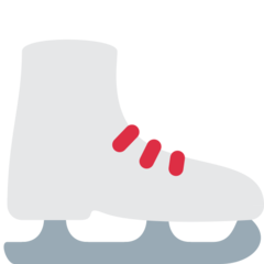 How Ice Skate emoji looks on Twitter.