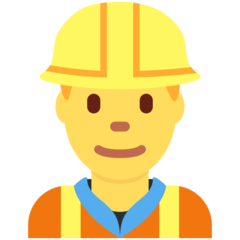 How Man Construction Worker emoji looks on Twitter.