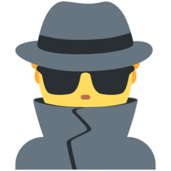 How Man Detective emoji looks on Twitter.