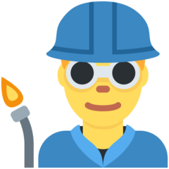 How Man Factory Worker emoji looks on Twitter.