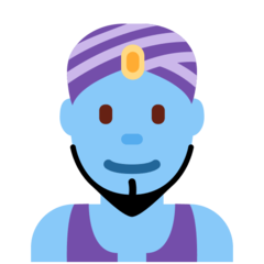 How Man Genie emoji looks on Twitter.