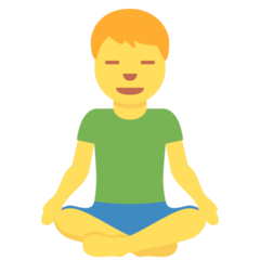 How Man in Lotus Position emoji looks on Twitter.