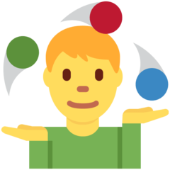 How Man Juggling emoji looks on Twitter.