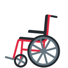 How Manual Wheelchair emoji looks on Twitter.