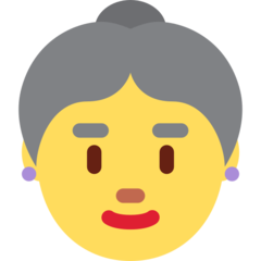 How Old Woman emoji looks on Twitter.