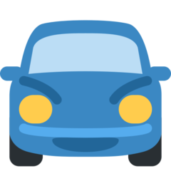 How Oncoming Automobile emoji looks on Twitter.